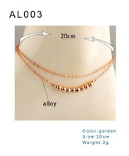 2015 New Fashion wholesale product gold jewelry women accessories double layer anklet&bracelet
