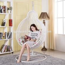 籐ぶら下がってりんごの椅子のための寝室/book読書用椅子