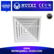 Aluminum square type air conditioning damper ceiling diffuser