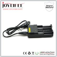 Original nitecore i2 charger i2 smart 2 bay 18650 battey charger wholesale nitecore i2