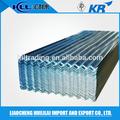 sgcc galvanizado corrugado hoja de acero para el envase