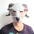 En- la acción de los animales de látex de la cabeza de cabra máscara de la máscara de los animales de cabra y oveja máscara mascarada para fiesta
