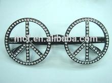 Carnival festival peace hippie crazy party funny safety eye glasses frame PG-0030