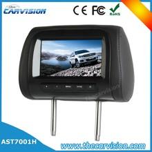 Evrensel yedek kafalık 7 inç kafalık araba koltuğu tv ekranlar siyah/Greg/tan