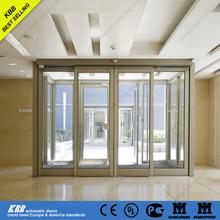 hotel sliding door, aluminum door frame, security glass