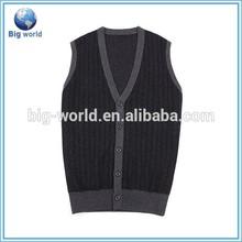 Sleeveless button cardigan knitting patterns v neck sweater vest wholesale