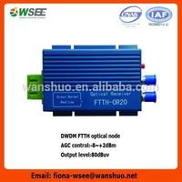 Bi-directional RFOG optical node/optical receiver