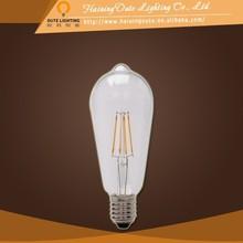 Wholesale led sensor light 6W ST64 tungsten Filament E26 E27 B22 LED light bulbs