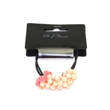 Pink colors Hair accessories pearl women elastic bands&Hair bands