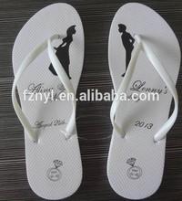 Lady white flip flop for wedding / beach