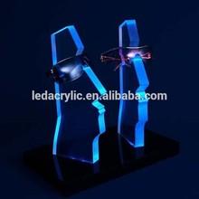 Lighted Acrylic Eyewear Display Stand with LED