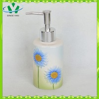 YSb40004-03-ld 2015 New design custom logo ceramic bathroom accessory liquid soap dispenser