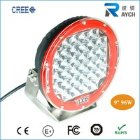 Red Round 9'' 96W Cr ee Led Driving Spot Work Light 4WD Offroad VS Hid 100W