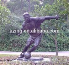 Outdoor Bronze Sculpture Football Game Sculpture UZ-SP41