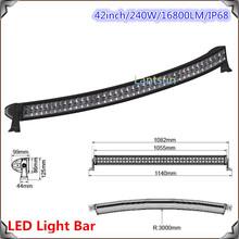 2015 44inch JK GMC ram 2500 3500 curved roof mounting led light bar