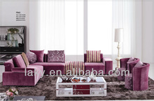 F842-2 purple mordern fabric sofa
