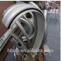 De aluminio del tubo doblado cnc de procesamiento profundo de corte, soldado, flexión de perfil de aluminio