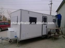 caravan trailer with deluxe living area
