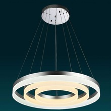 Ring Pendant led Height adjustable led pendant light office for Living room