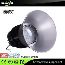 led 200 watt high bay Meanwell 6000k Led Lighting with CE ROHS UL