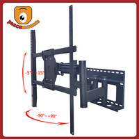 High-quality dual-arm articulating (extend, tilt, swivel and pan) mechanism allows quick and easy viewing tv mount