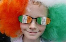 St. Patrick's Day 100th hot sales wig football fan hair dye powder