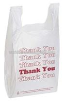 Vest carrier handle bag for US market shopping, thank you bag