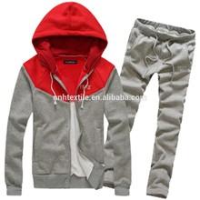 Fashion new top design tracksuit plain cotton tracksuit for men