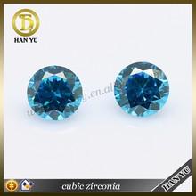 Aquamarine cubic zirconia anillo de diamante