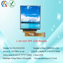 Hot sale 1.54 tft lcd module ,tft lcd module display panle