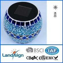 solar light manufacture landsign XLTD-513 Glass+PP ultra bright led solar garden light