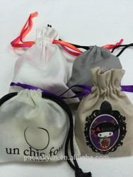 fashion cotton drawsting gift pouchs