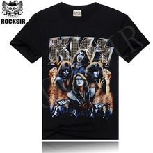 YIWU 2015 OEM man to man t-shirt stock lot basic t-shirt Kiss band