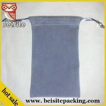 suede grey velvet jewelry pouches