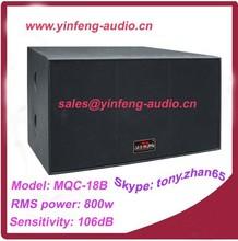 800w passive powered 18 subwoofer speakers / dj sound box