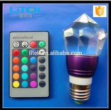 remote control Led Ceiling Light Led Candle Light Bulb Small Crystal Led Light