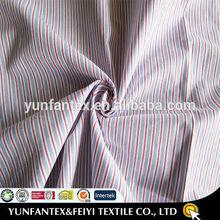 2015 supply white blue dobby risen stripe fabric for shirt
