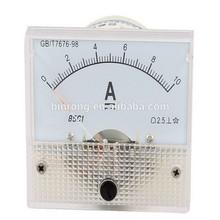 85C1 DC 0-10A Rectangle Analog Amperemeter Panel Meter Gauge