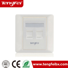 Tengfei rj45 outlet faceplate 1/2/4/6 port