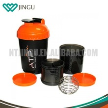 600ml(20oz) Whey Protein Shaker Belnder Bottle with Multiple Compartments