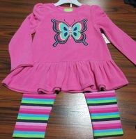 Knit Baby Clothes/Baby Romper Sets with cute embroidery