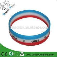 CHILENO DE CORAZON MCOPA AMERICA CHILE 2015 Layered Silicone bracelet,3 colorful silicone bracelet,Pulsera de silicona CHILE