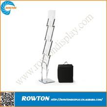 High quality free standing racks folding brochure holder floor stand