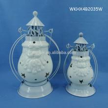 White color decorative christmas led hurricane lantern