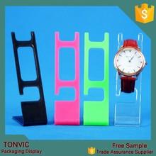 De plástico de colores del reloj del soporte de exhibición de la joyería estantes
