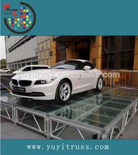 Aluminium frame glass platform for exhibition