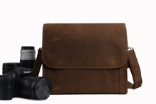 Leather Fashion Professional DSLR Camera Bag