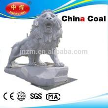 2015 factory Supply stone lion animal sculpture garden sculpture, marble stone modern simulation lion