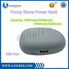 Newest Hight Quality Sanofee Stone 5200mah Power Bank for iPhone, Samsung Galaxy, Nokia, HTC, LG