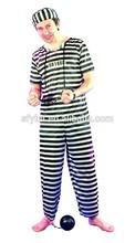 adulto prigioniero abbigliamento halloween costume di carnevale
